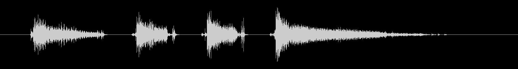 エレキギター(ファンキー2)の未再生の波形