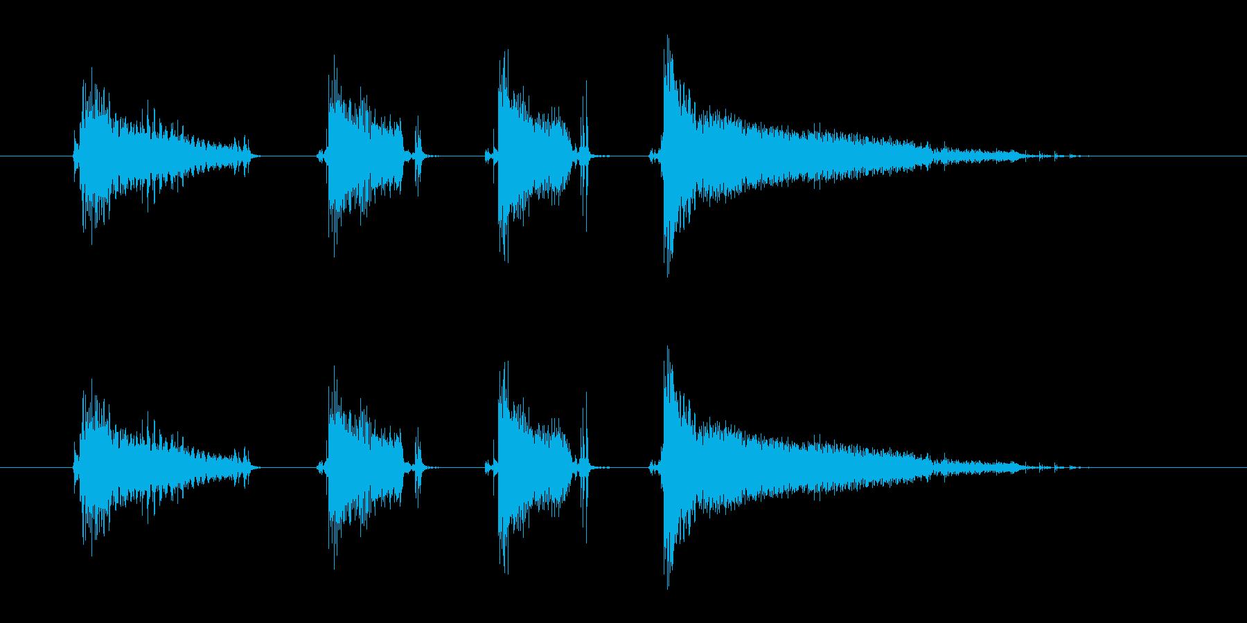 エレキギター(ファンキー2)の再生済みの波形
