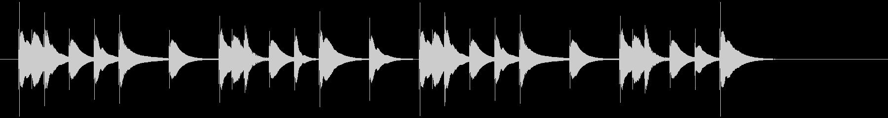 ほのぼのとした可愛らしい木琴のジングル2の未再生の波形