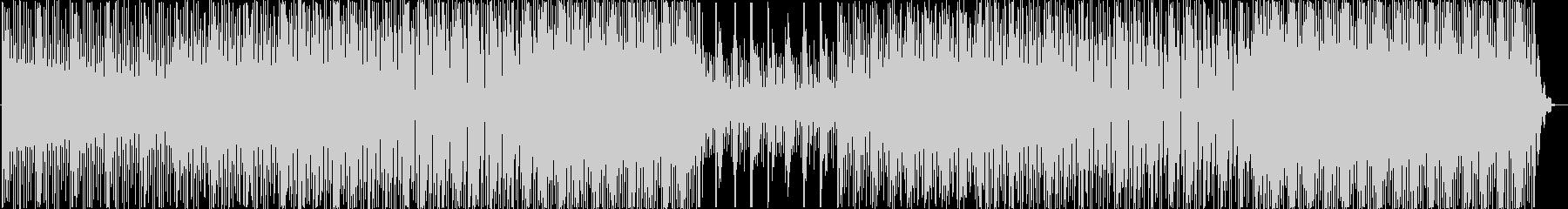 エレクトロニカテイストのBGMの未再生の波形
