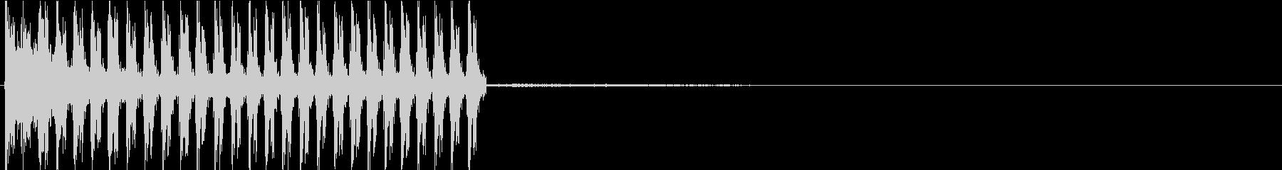 MP5系サブマシンガンの発砲音の未再生の波形