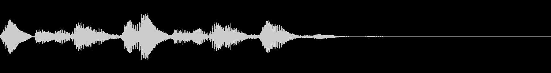 ストリングスのピチカート音のロゴの未再生の波形