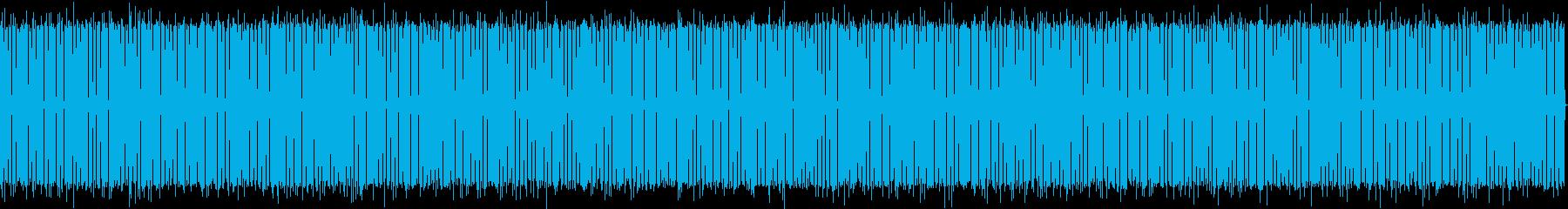 喋り動画用_使い易いお洒落なドラムBGMの再生済みの波形