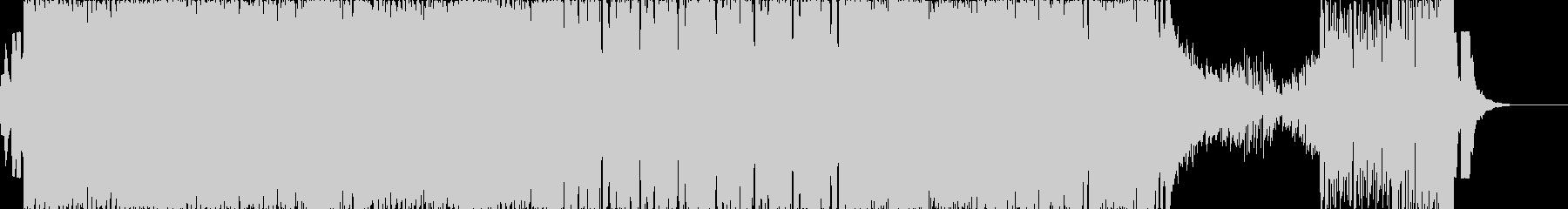 テンポの速いEDM+ロックの未再生の波形