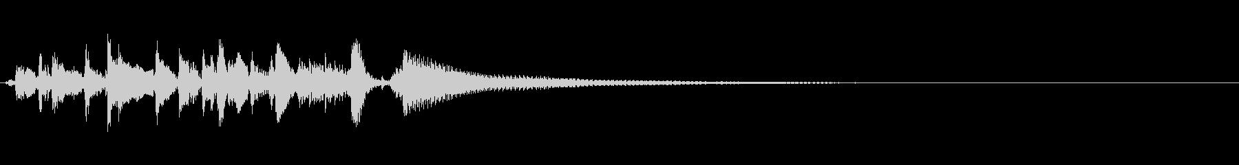 アコギのシンプルなカントリージングルの未再生の波形