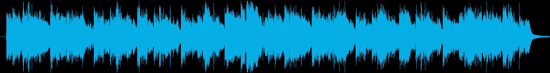 日本の伝統文化に良く合いそうな約30秒曲の再生済みの波形