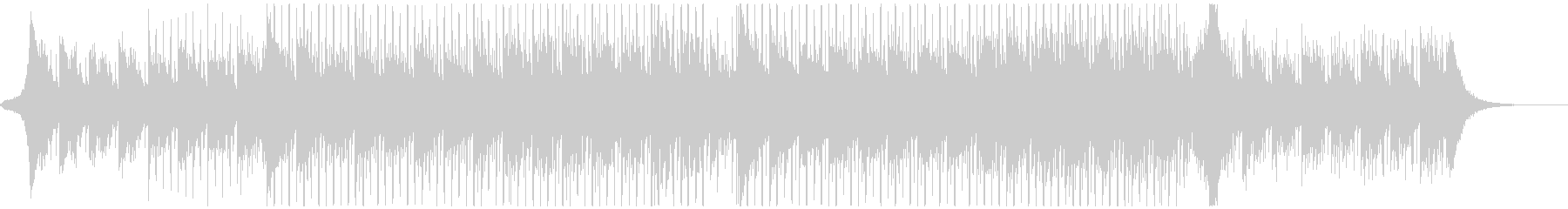 誠実なイメージのBGM。4つ打ち/ハウスの未再生の波形