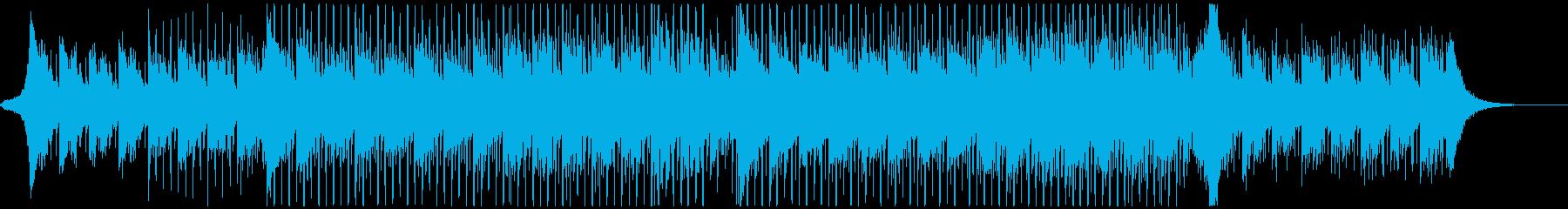 誠実なイメージのBGM。4つ打ち/ハウスの再生済みの波形