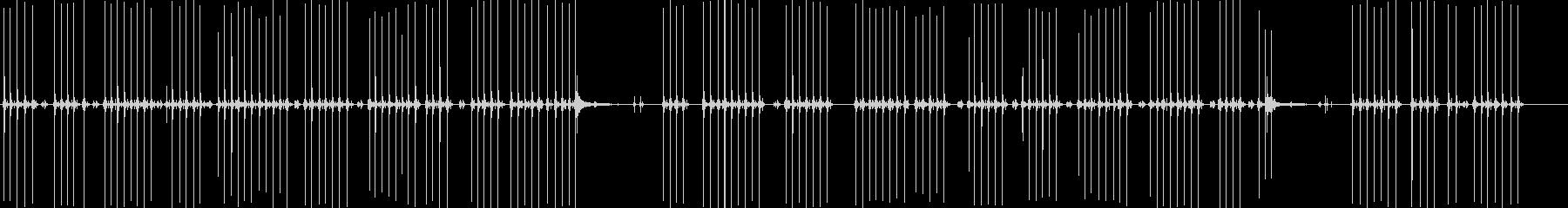 手動タイプライターの入力の未再生の波形