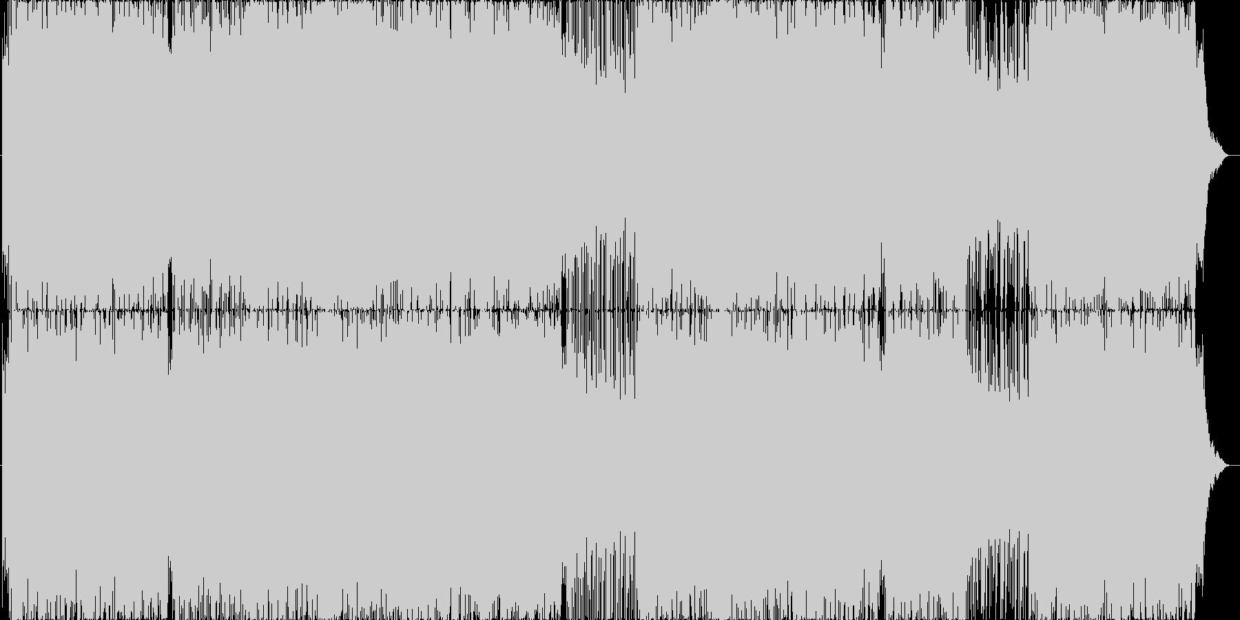 三味線メインの和風トランスポップの未再生の波形