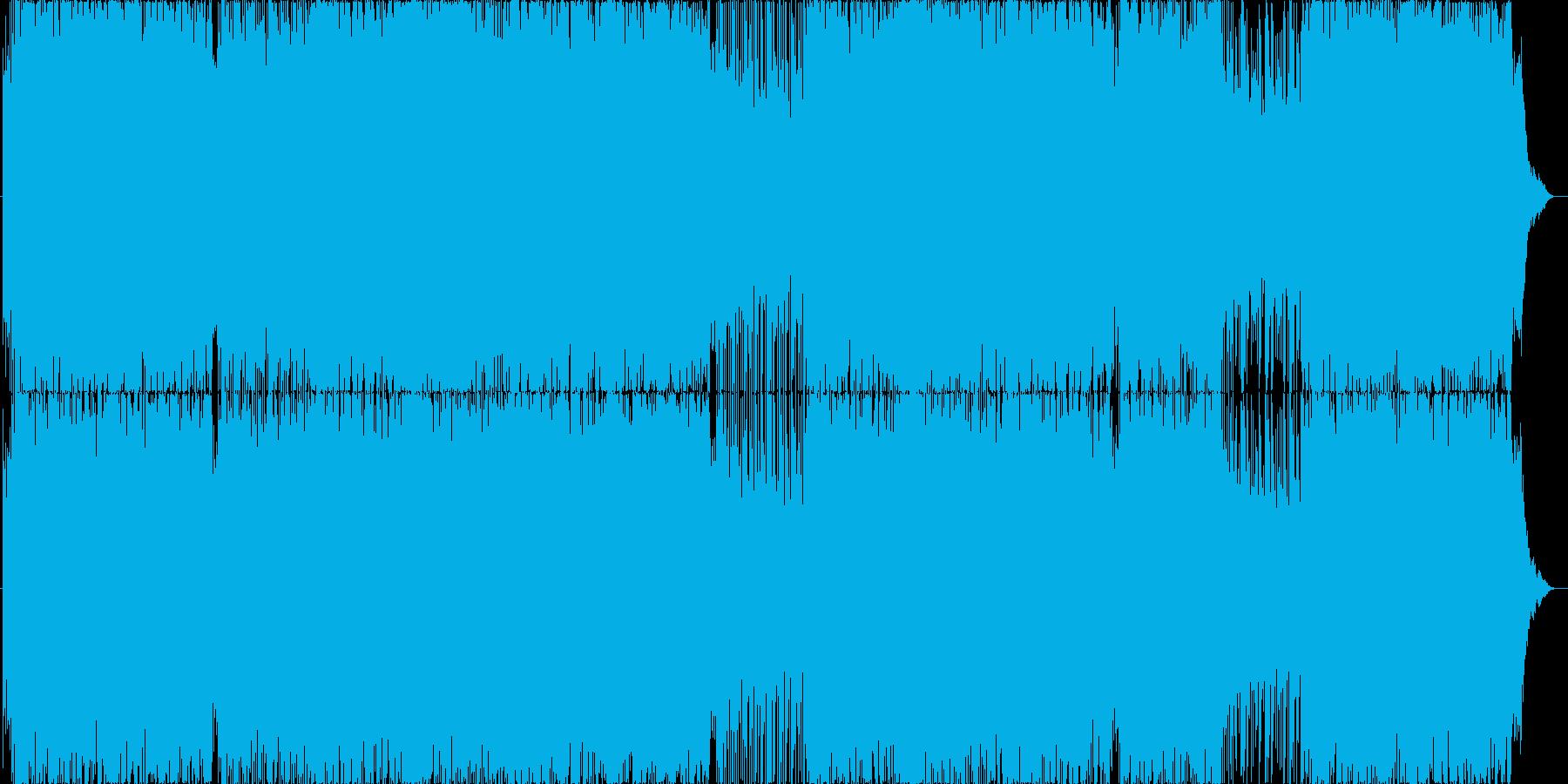 三味線メインの和風トランスポップの再生済みの波形