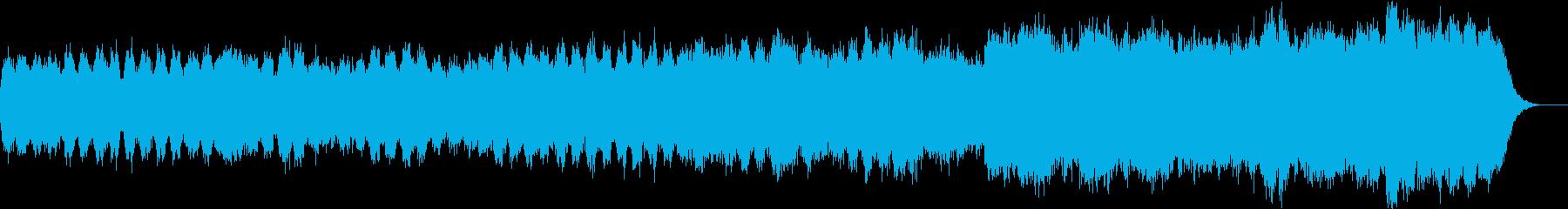 ハプシコードとストリングスのバロック曲の再生済みの波形