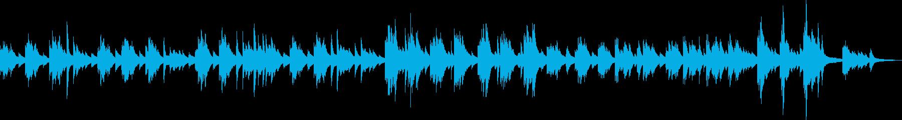 後悔・懺悔のピアノ曲の再生済みの波形