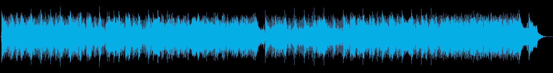 お洒落で滑らかなシンセが特徴のポップスの再生済みの波形