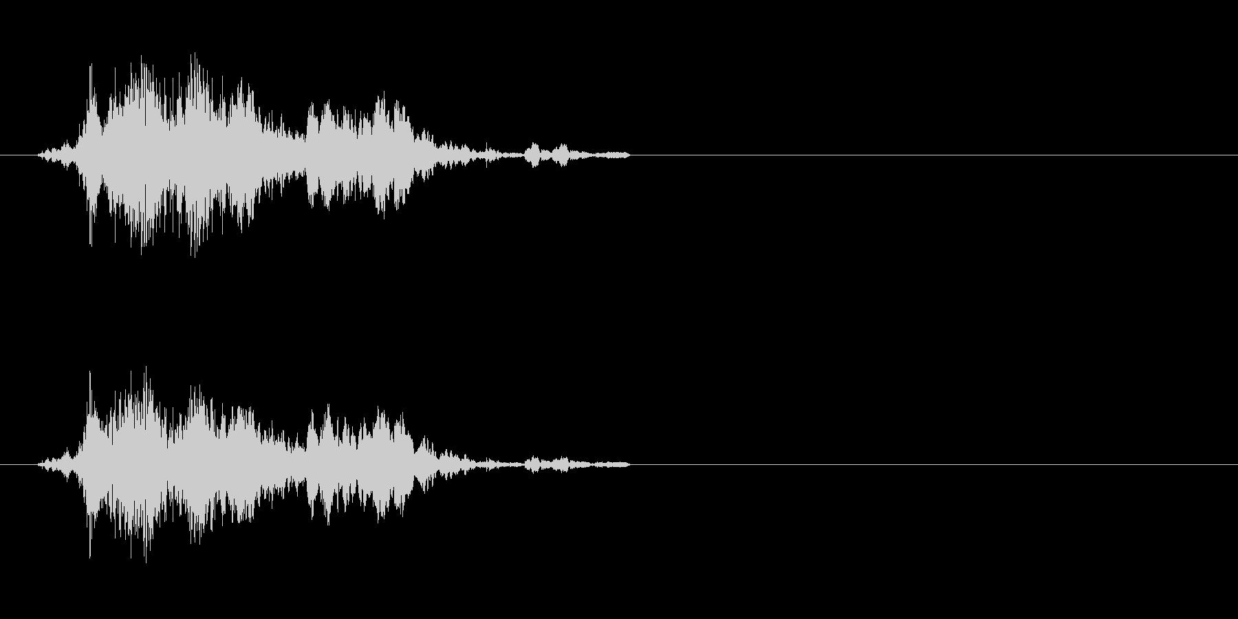コイン 4の未再生の波形