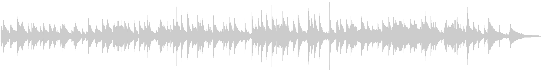 ピアノトリオのジャズワルツの未再生の波形