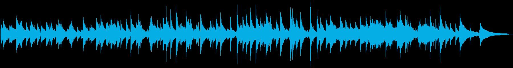 ピアノトリオのジャズワルツの再生済みの波形