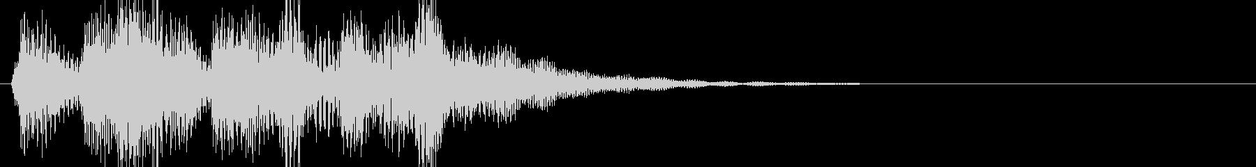 場面転換に 三味線が印象的なサウンドロゴの未再生の波形