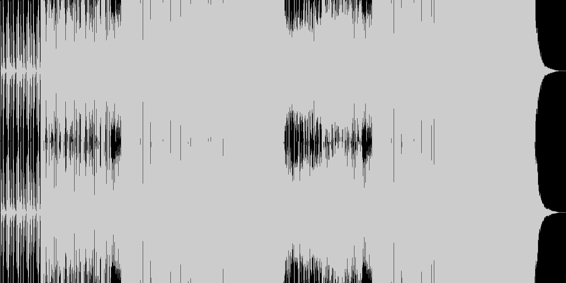 ノリの良い踊れるEDMの未再生の波形