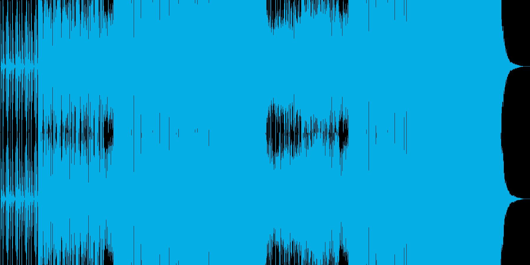 ノリの良い踊れるEDMの再生済みの波形