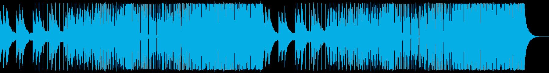 疾走感のあるワークアウトEDMの再生済みの波形