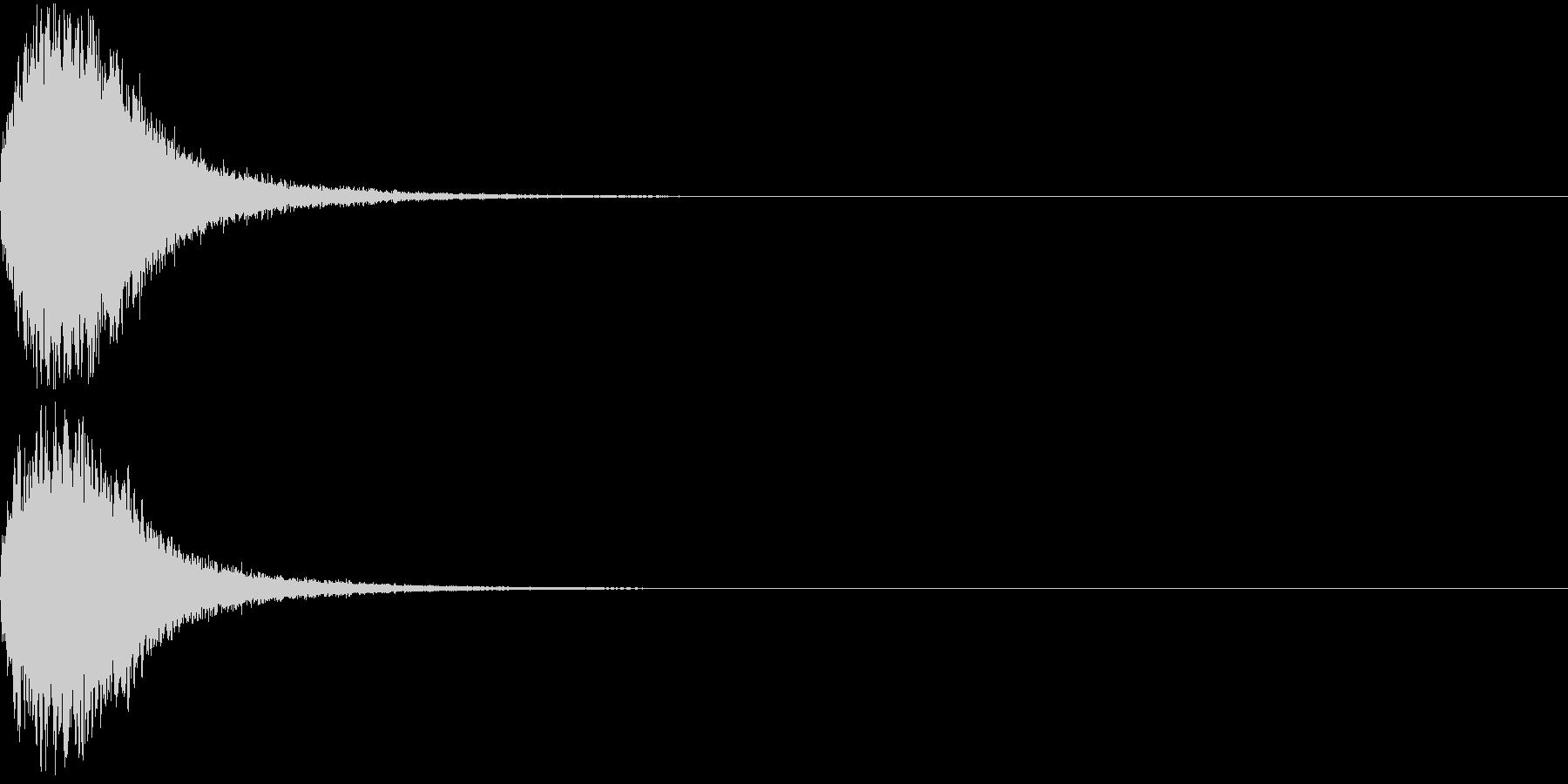 魔法 キラキラ 回復 ヒール系01の未再生の波形