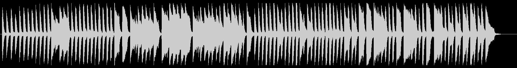 アルプス一万尺 ピアノver.の未再生の波形