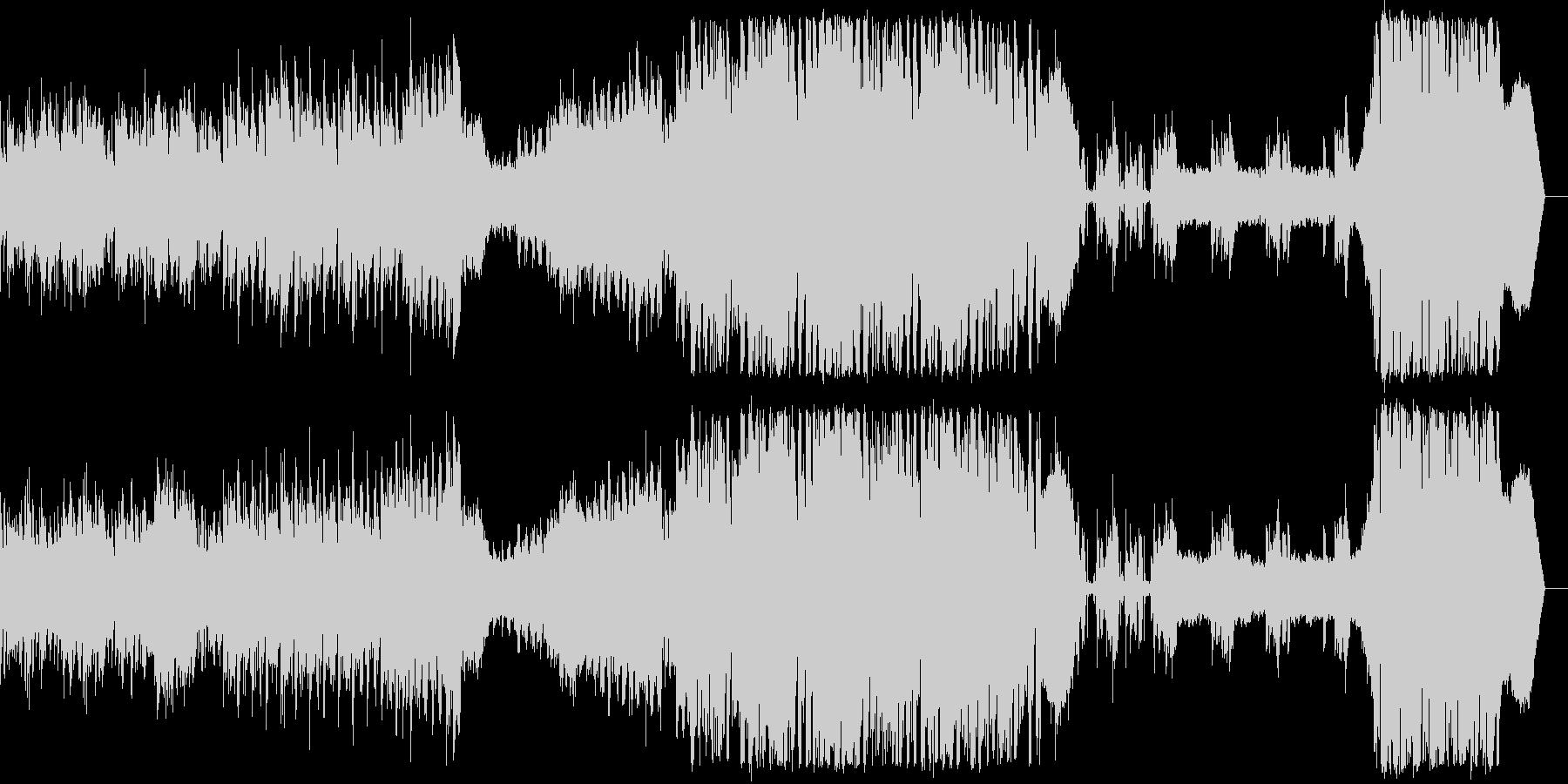 ボーカル入りのクールなEDM楽曲の未再生の波形
