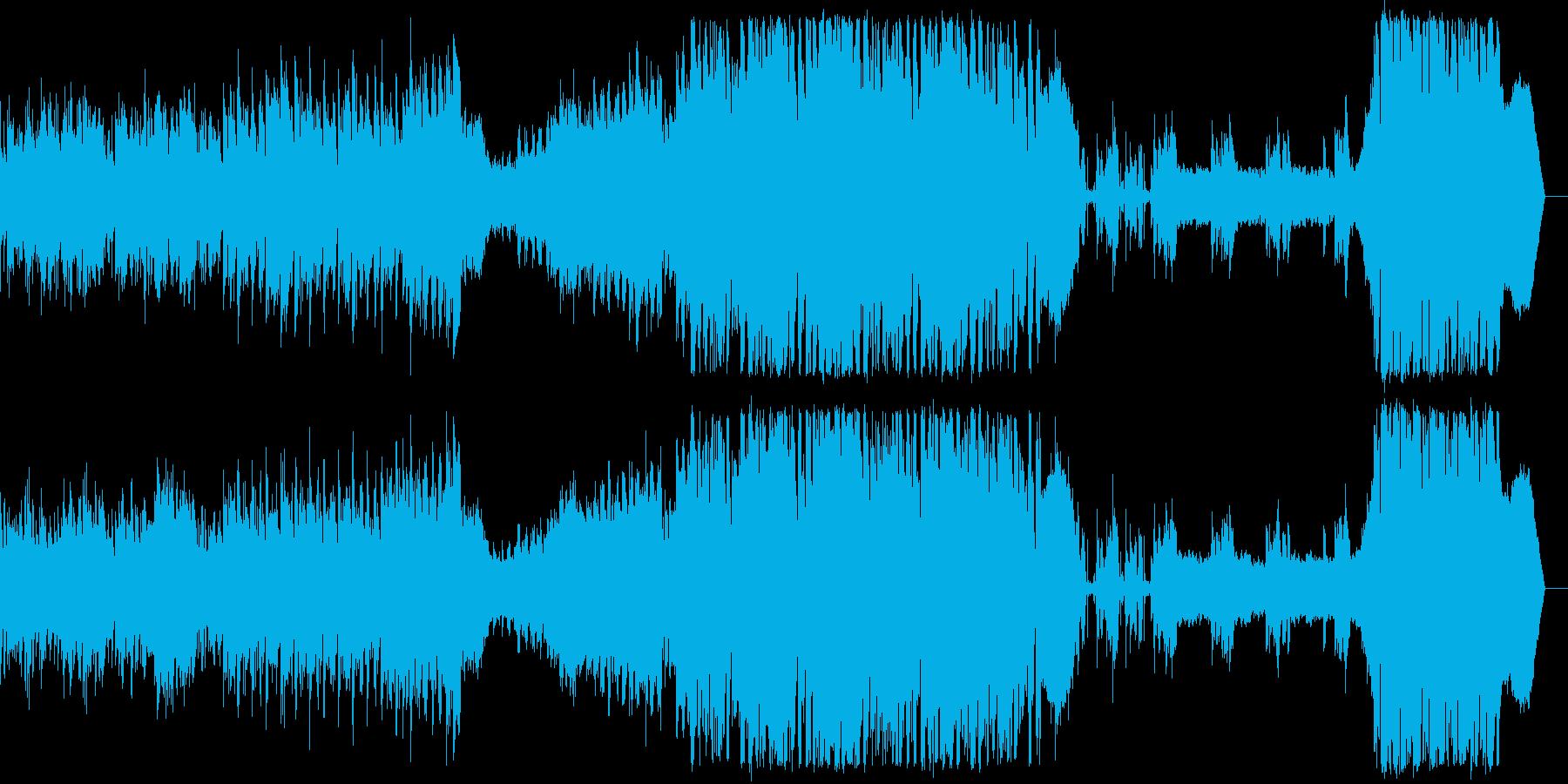 ボーカル入りのクールなEDM楽曲の再生済みの波形