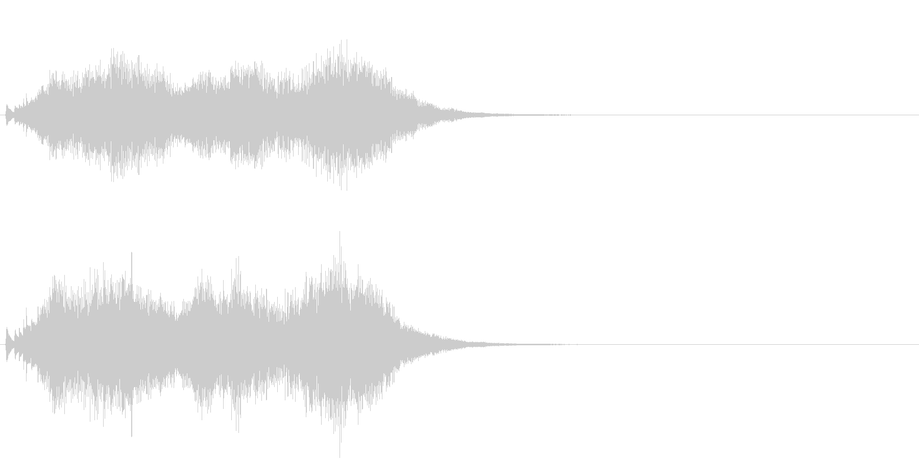ハープ 魔法 キラキラ 泉 場面転換 2の未再生の波形