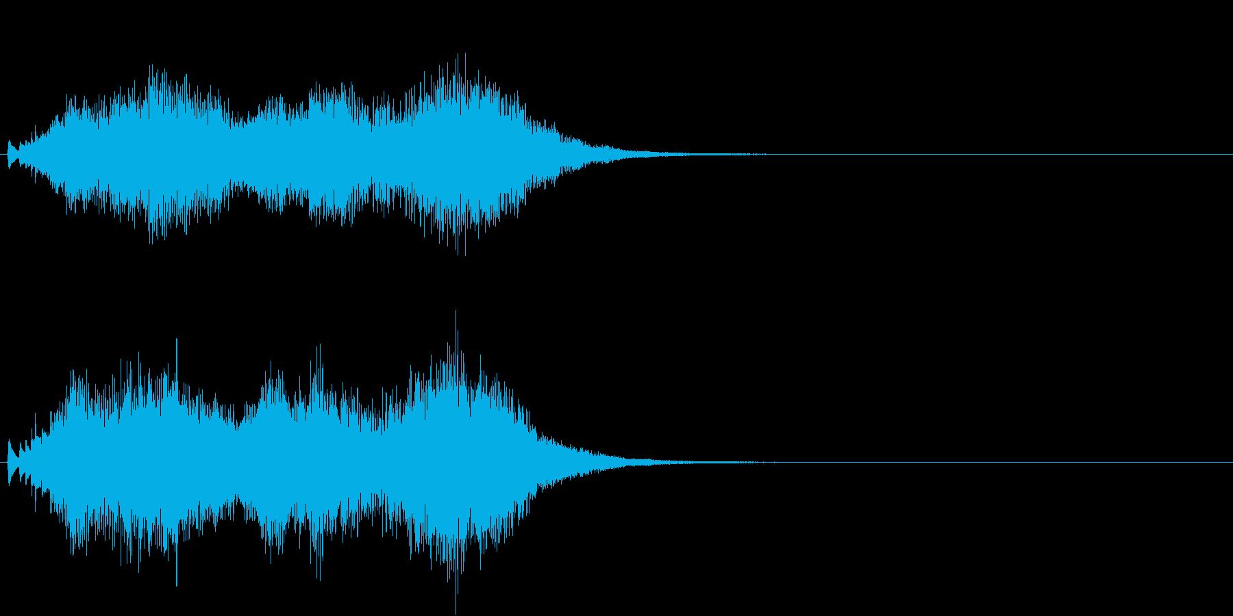 ハープ 魔法 キラキラ 泉 場面転換 2の再生済みの波形