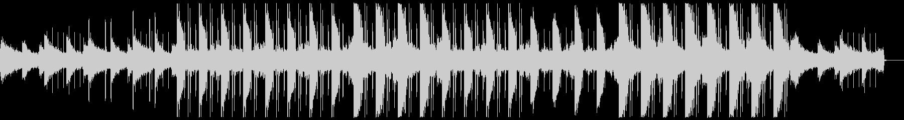 幻想的で切ないチルアウトBGMの未再生の波形