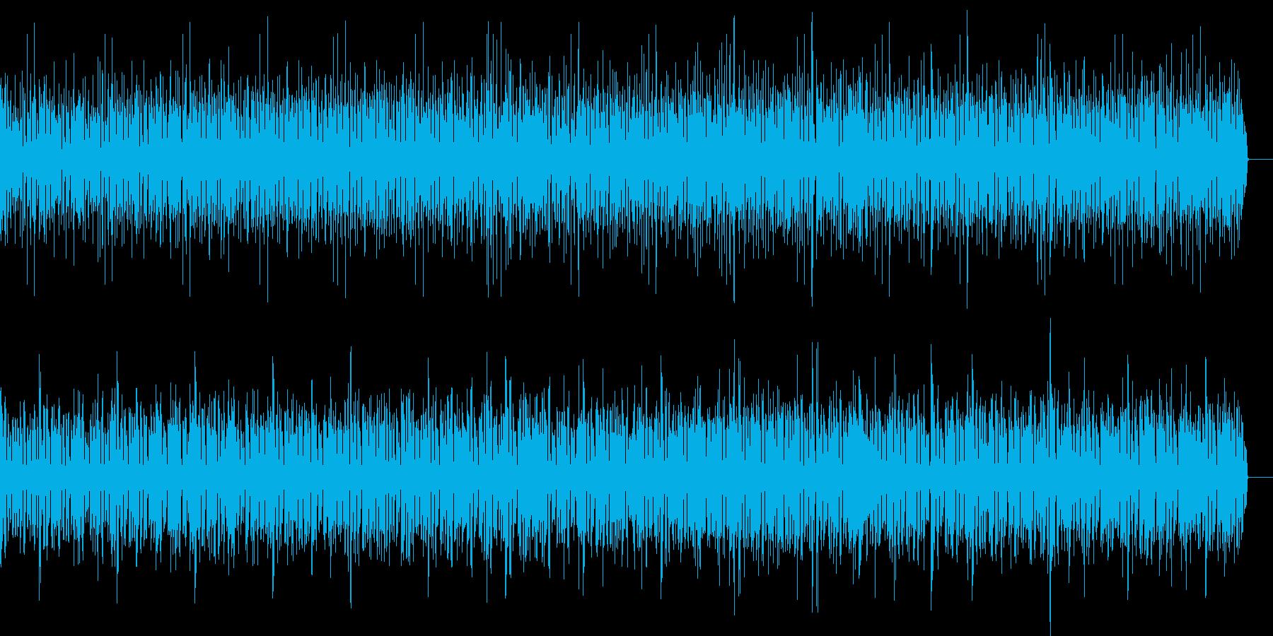 ベース、ボンゴでのミディアムテンポ曲の再生済みの波形