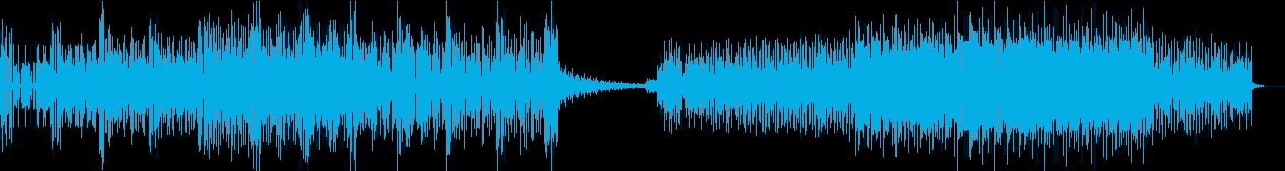 近未来的 未知なるワクワク感の再生済みの波形