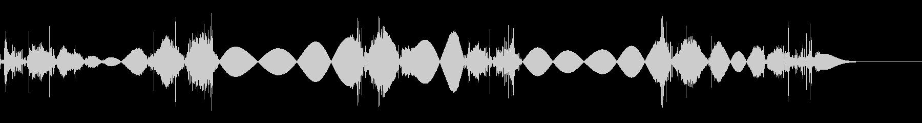 チョビチョビ 移動音の未再生の波形