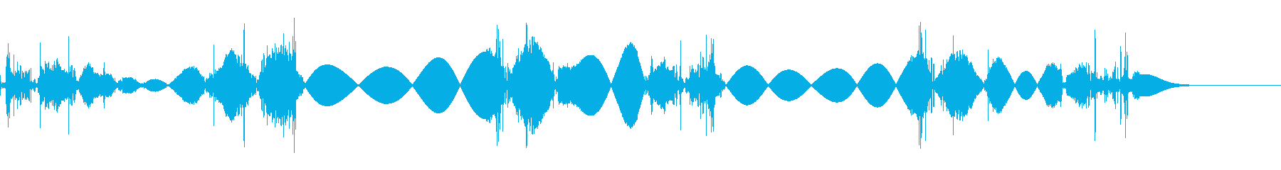 チョビチョビ 移動音の再生済みの波形