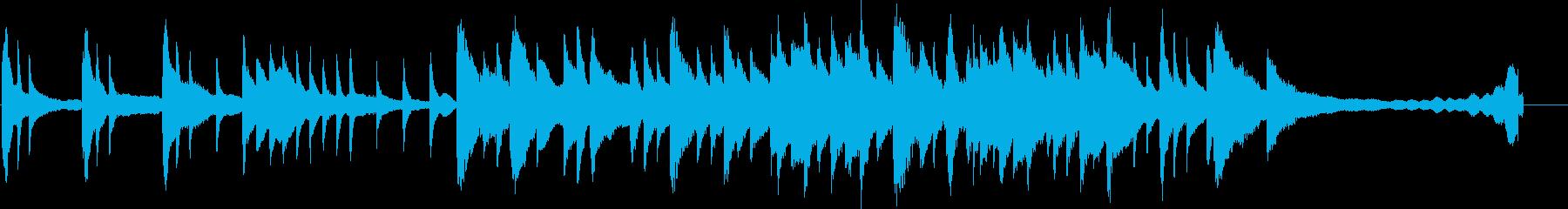 静かで切ないピアノ曲の再生済みの波形