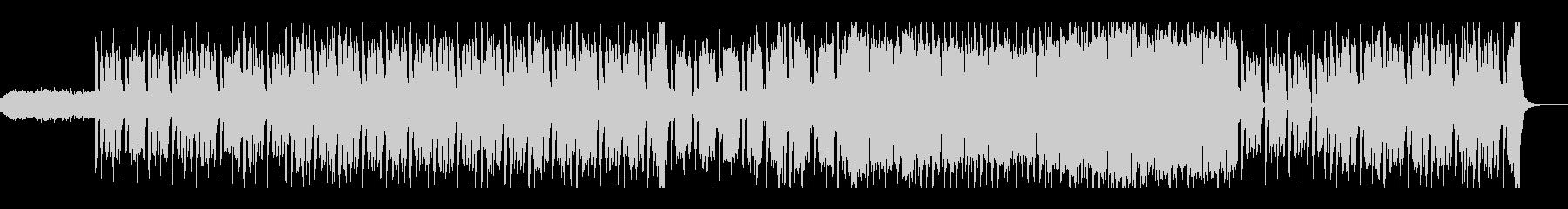 レトロなテクノポップの未再生の波形