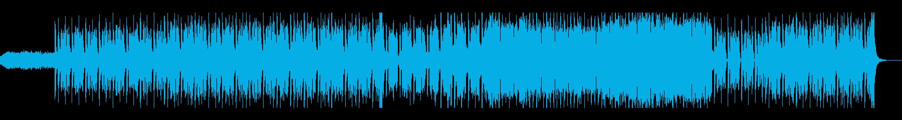 レトロなテクノポップの再生済みの波形