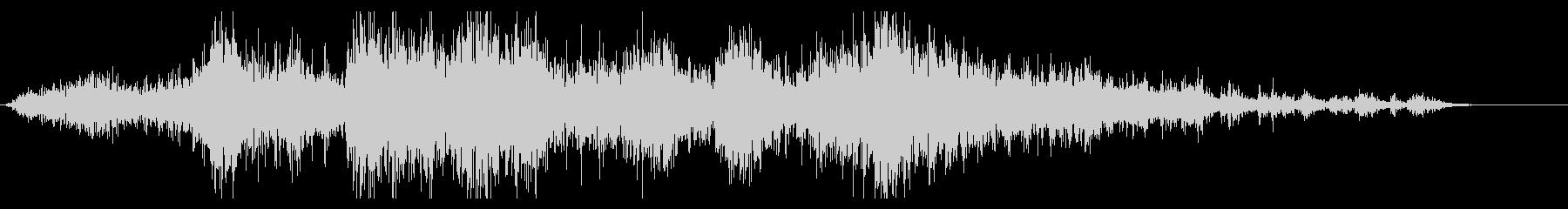 地鳴り#2「ゴゴゴ・・・」の未再生の波形