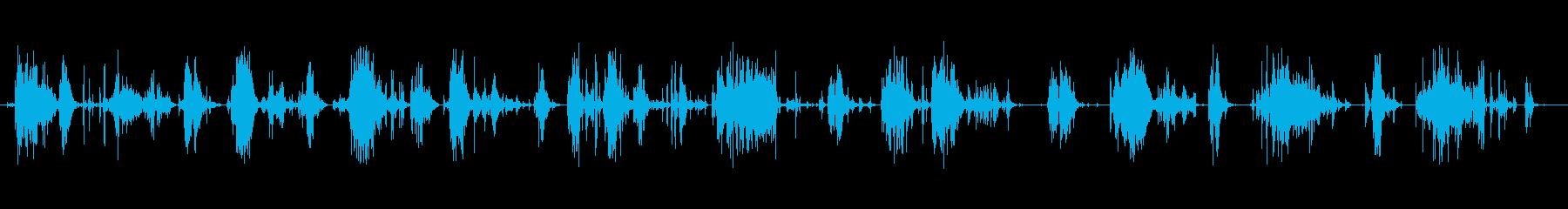 シャベルシャベル雪とスラッシュの再生済みの波形