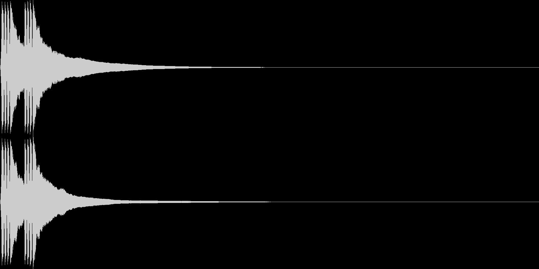 リリン。自転車のベルD(低・速)の未再生の波形