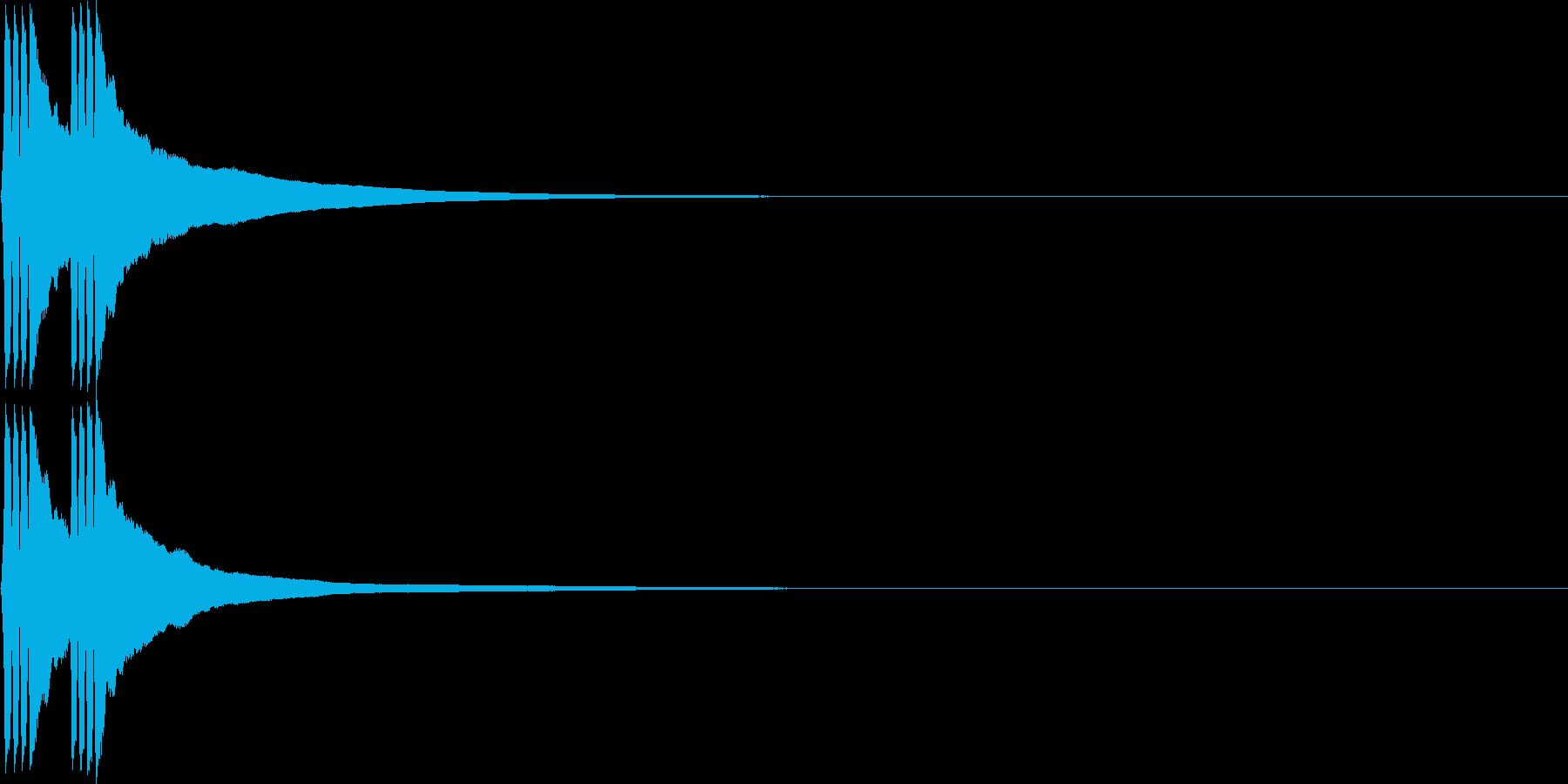 リリン。自転車のベルD(低・速)の再生済みの波形