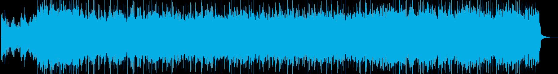 スピード感のあるアニメオープニング風の曲の再生済みの波形