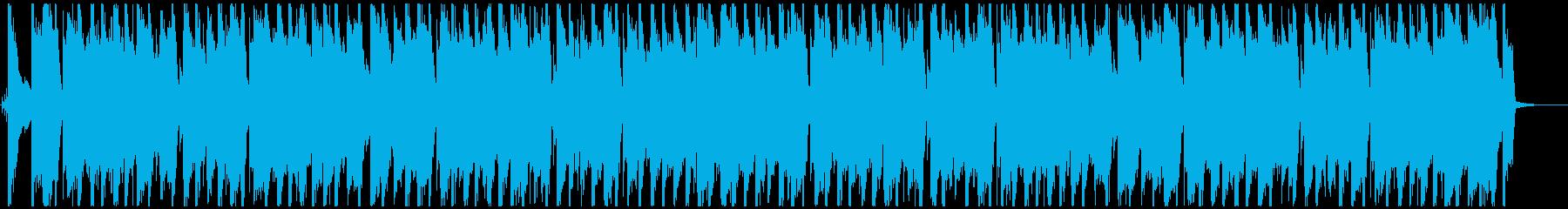 近未来的でミステリアスなBGMの再生済みの波形