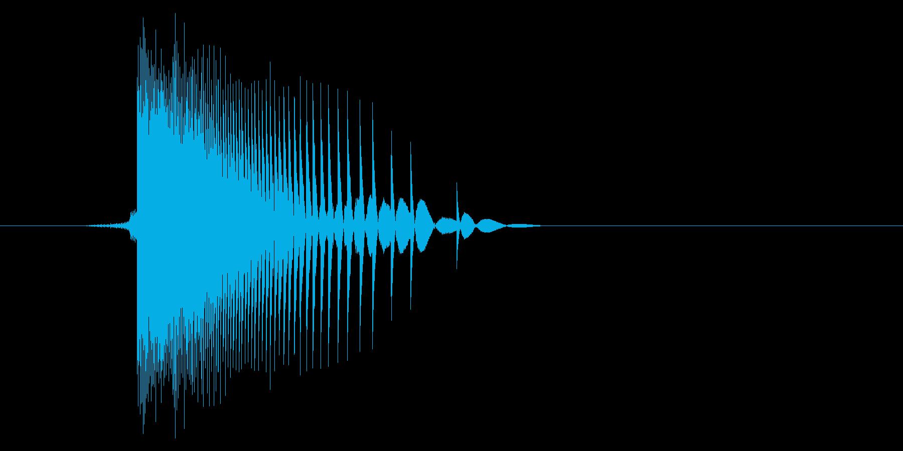 ゲーム(ファミコン風)ヒット音_020の再生済みの波形