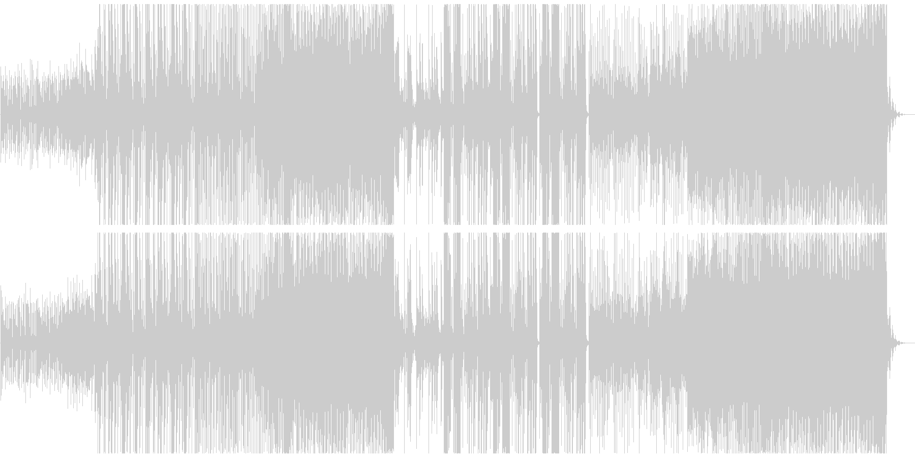 優しいトロピカルハウスの未再生の波形
