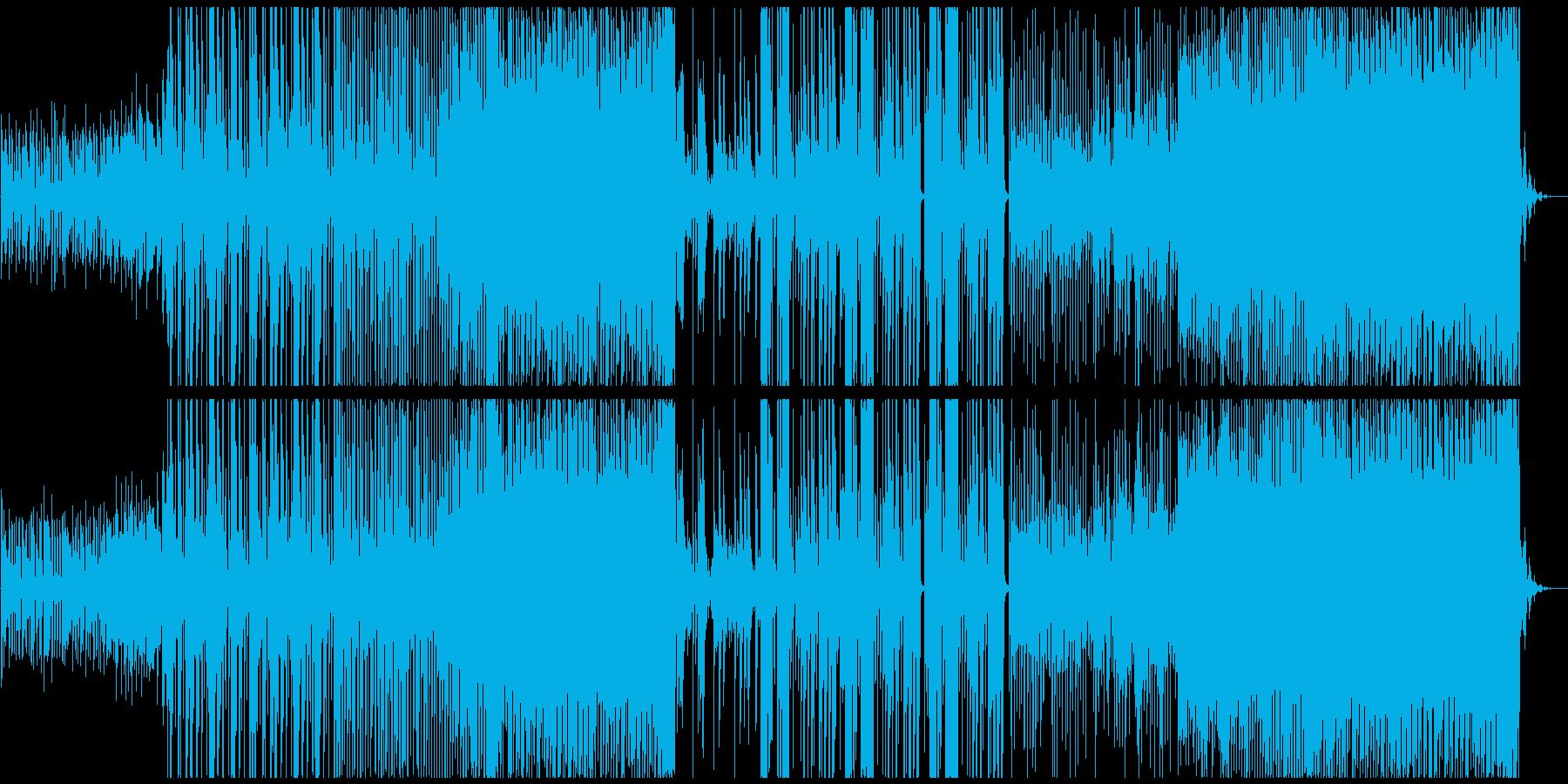優しいトロピカルハウスの再生済みの波形