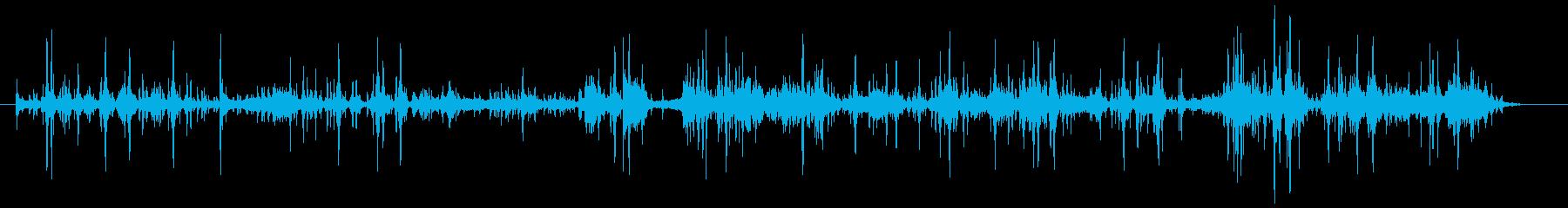 幽霊のいる家の音、ラップ音の再生済みの波形