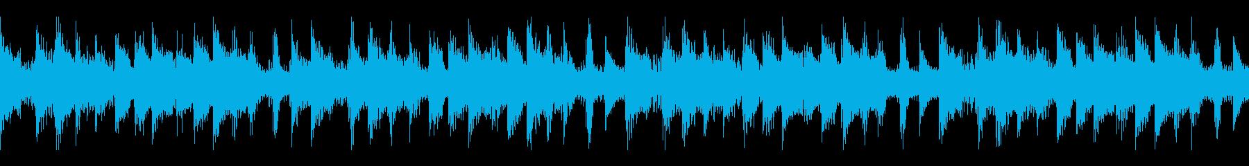 不気味な雰囲気のループ仕様 BGMの再生済みの波形
